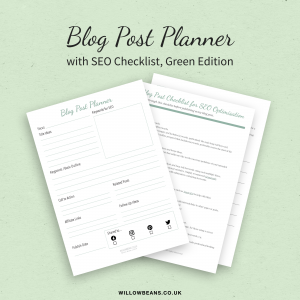 Blog Post Planner with SEO Checklist
