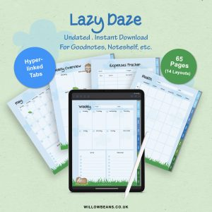 Lazy Daze Sloth Themed Planner