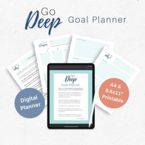 Go Deep Goal Planner