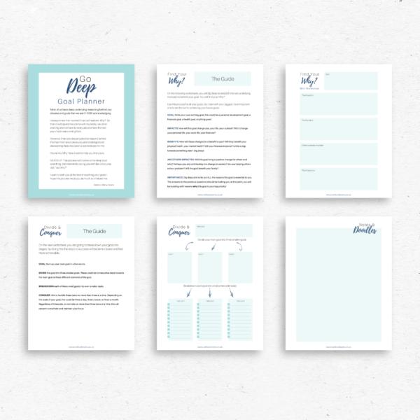 Go Deep Printable Goal Planner