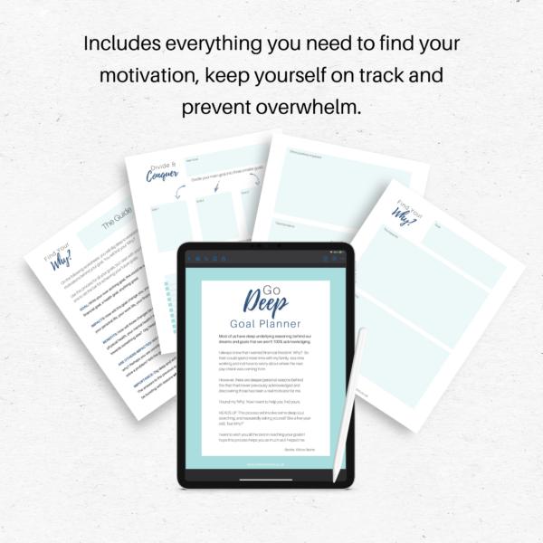 Go Deep Printable & Digital Goal Planner
