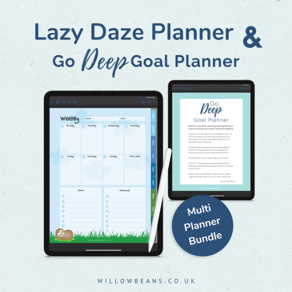 Digital Planner Bundle with Goal Planner