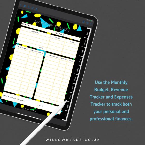 Geometric Life Planner Budgeting Screenshot