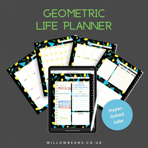Geometric Life Planner Hero Image