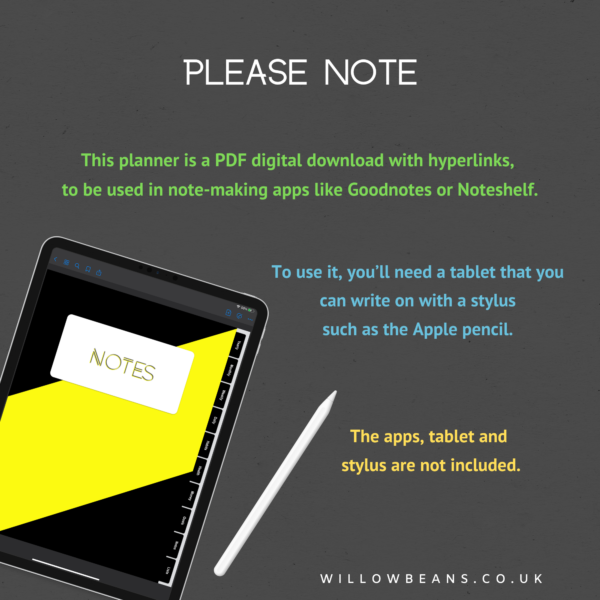 Digital Planner: Points to Note!