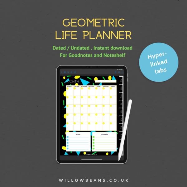 Geometric Life Planner Single Screenshot, monthly planning